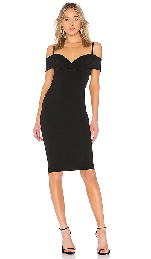 Nookie Athena Off Shoulder Dress in Black