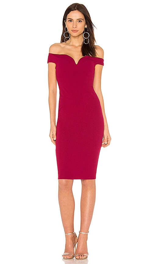 Nookie Elena Midi Dress in Wine