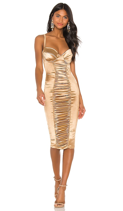 Tease Satin Midi Dress