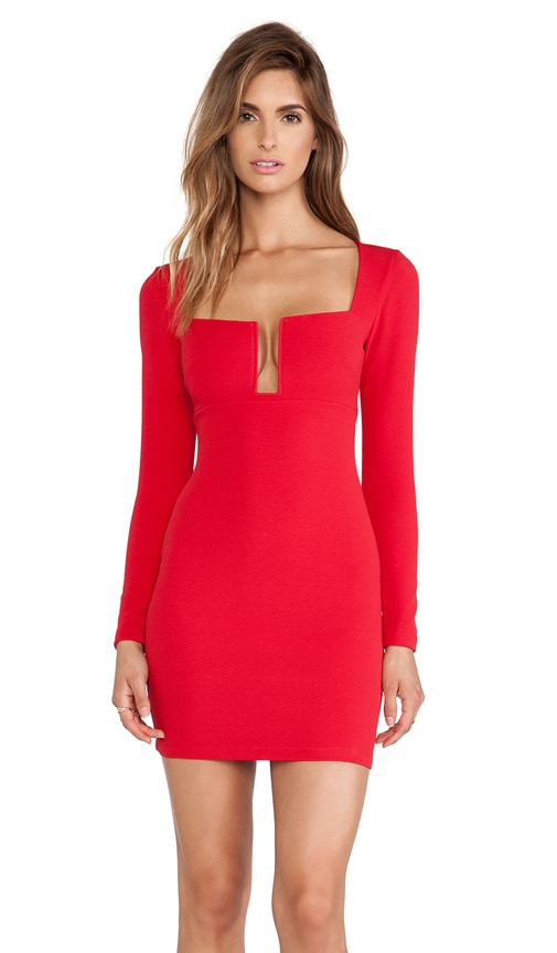 Nookie Stadium Winter Edition Dress in Red | REVOLVE