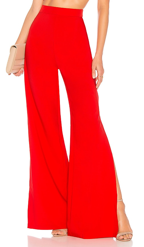 Nookie Belle High Waisted Pants in Red