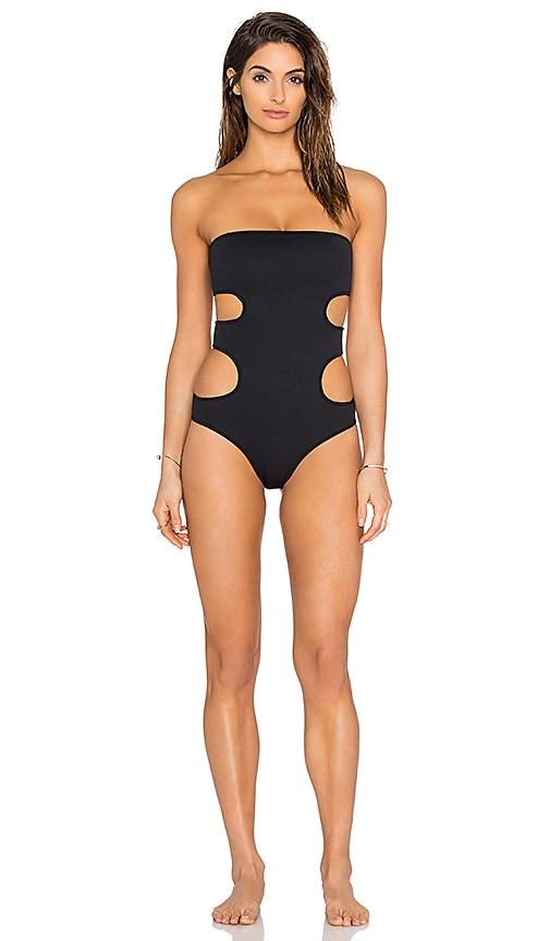 Nookie Riptide Cut Out Swimsuit in Black
