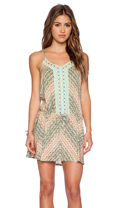 Nanette Lepore Paso Robles V Neck Mini Dress in Multi