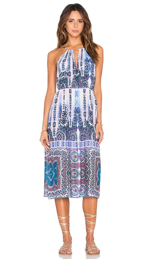Nanette Lepore Paros Paisley Midi Dress in Blue