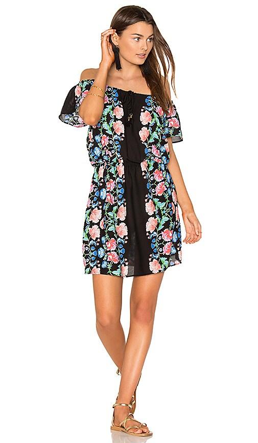 Nanette Lepore Off the Shoulder Mini Dress in Black