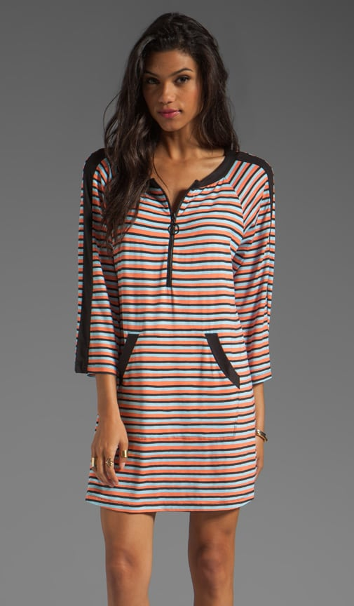 Strobe Light Stripe Tunic Cover Up