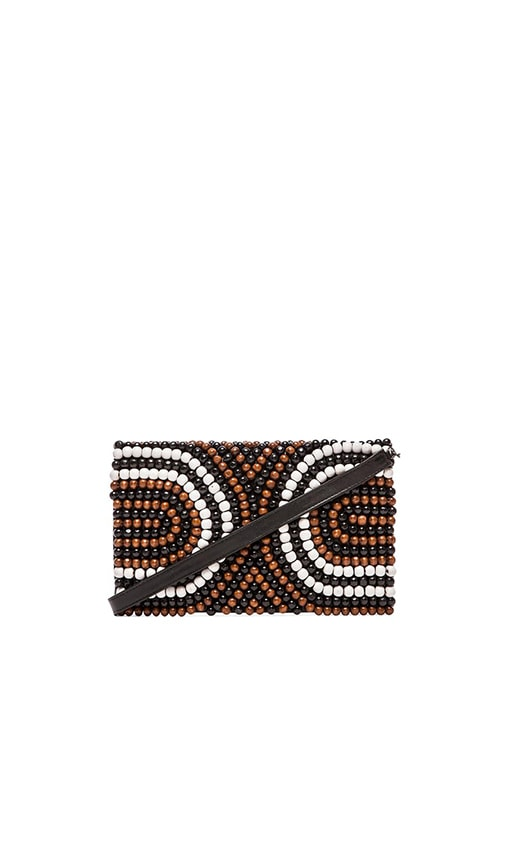 Wooden Beaded Clutch