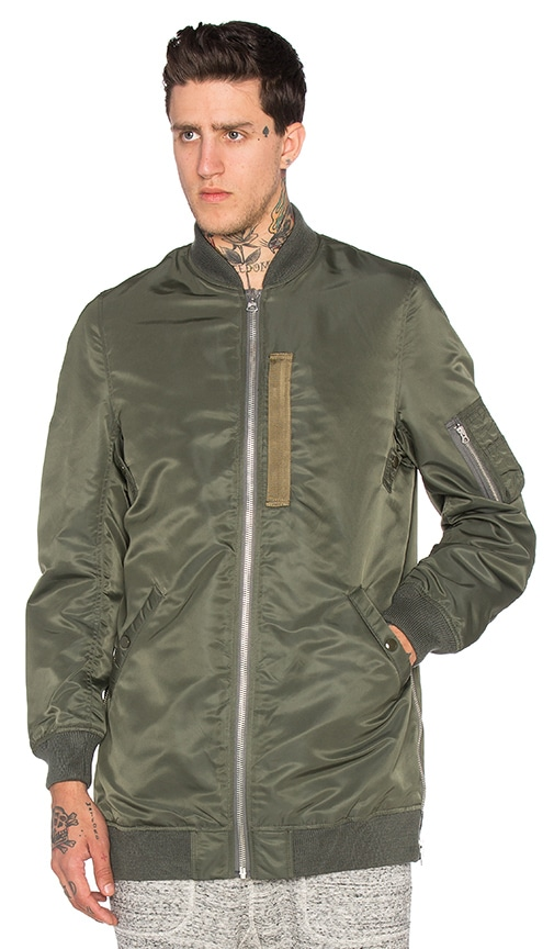NLST Oversized Flight Jacket in Olive
