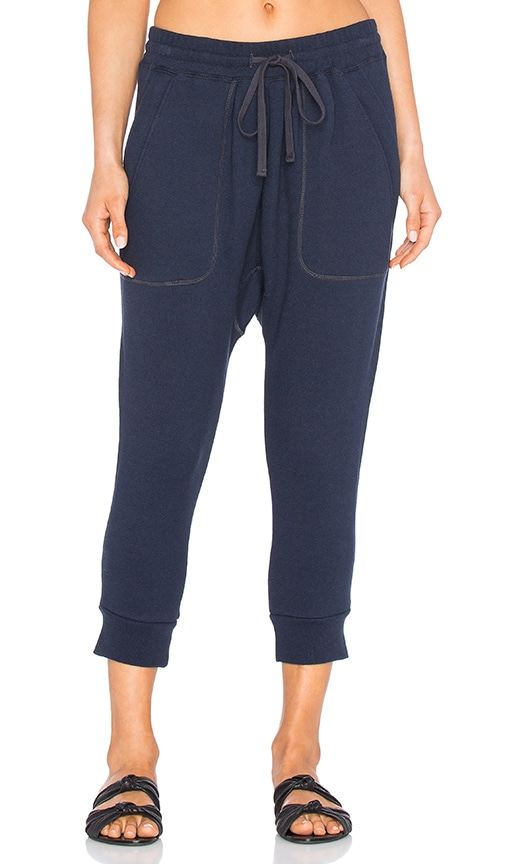 NLST Zip Pocket Knit Harem Sweatpant in Navy