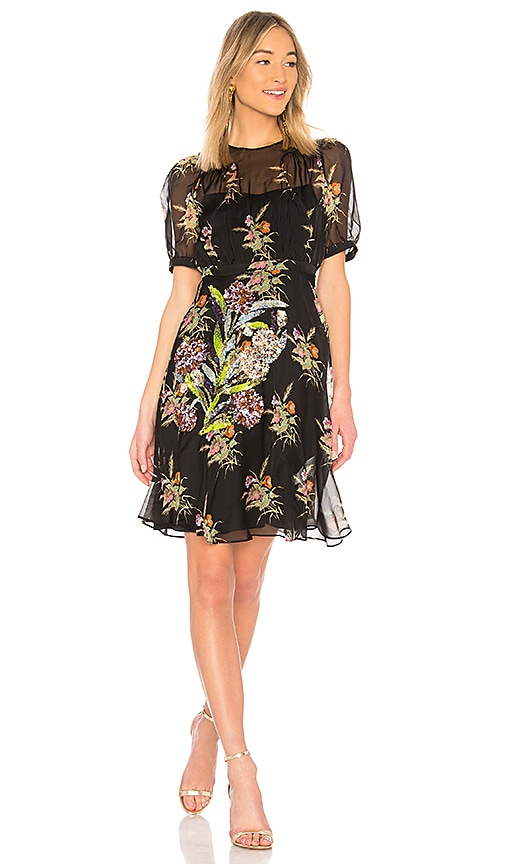 No. 21 Printed Dress in Black