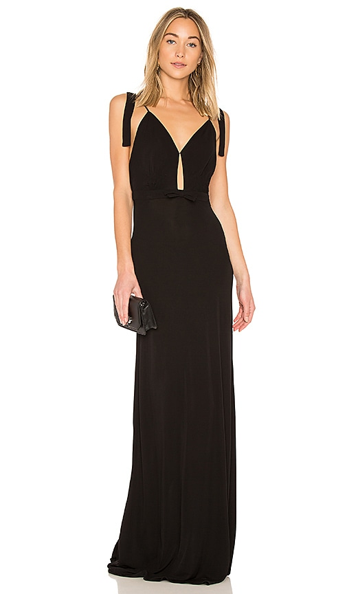 No. 21 Sleeveless Maxi Dress in Black