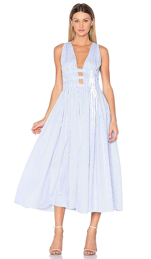 No. 21 Sleeveless Maxi Dress in Blue