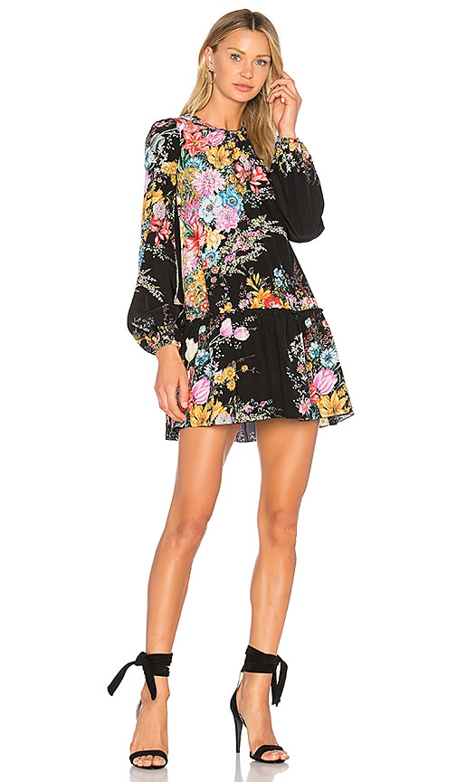 No. 21 Floral Mini Dress in Black
