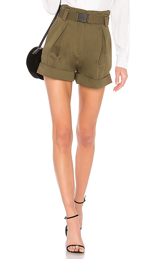 No. 21 High Rise Shorts in Olive