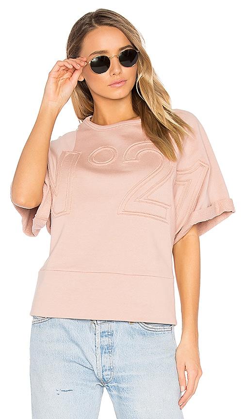 No. 21 Short Sleeve Sweatshirt in Blush