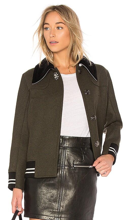 No. 21 Letterman Jacket With Velvet Collar