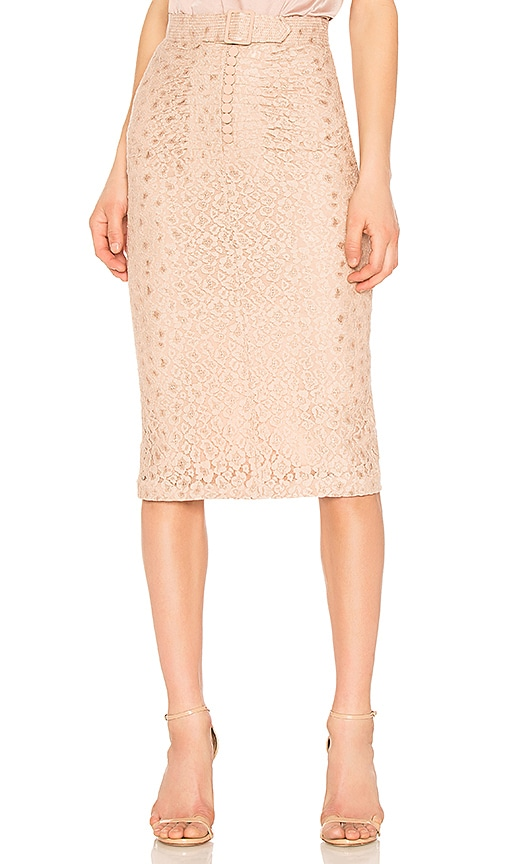 No. 21 Midi Skirt in Beige