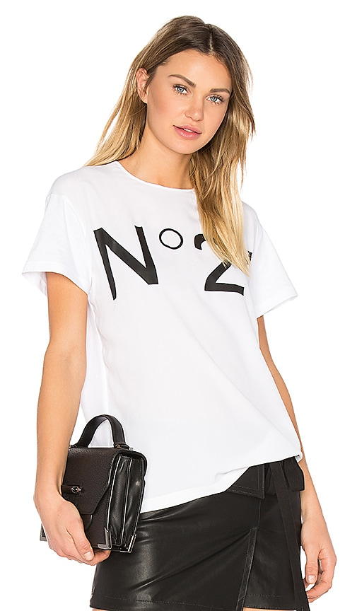 No. 21 Graphic Tee in White