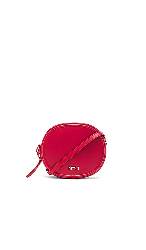No. 21 Circle Small Crossbody Bag in Red
