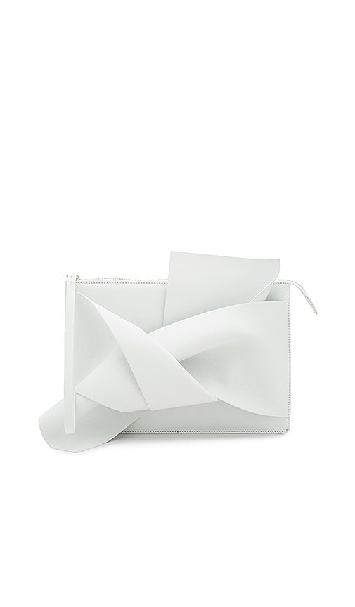 No. 21 Knotted Clutch in White