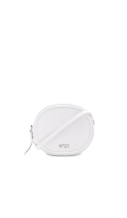 No. 21 Circle Small Crossbody Bag in White
