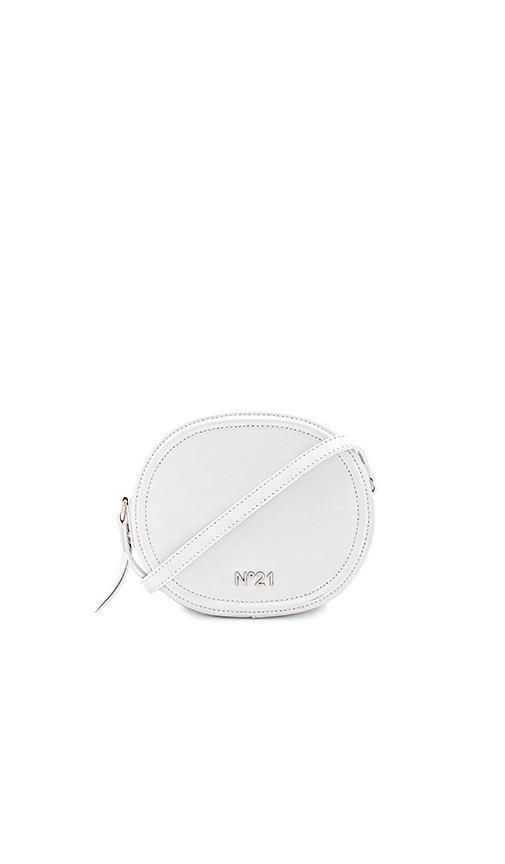 No. 21 Circle Small Crossbody Bag in White