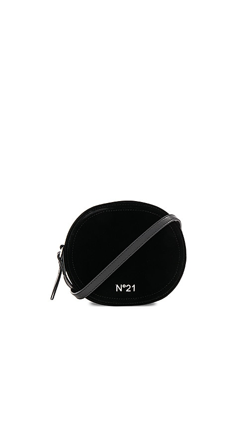 No. 21 Circle Large Crossbody Bag in Black