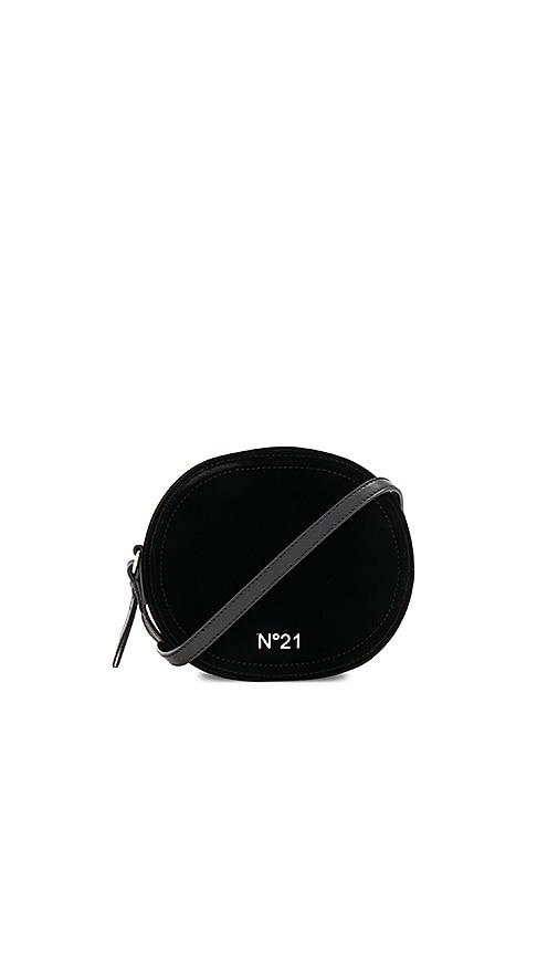 No. 21 Circle Large Crossbody Bag in Black