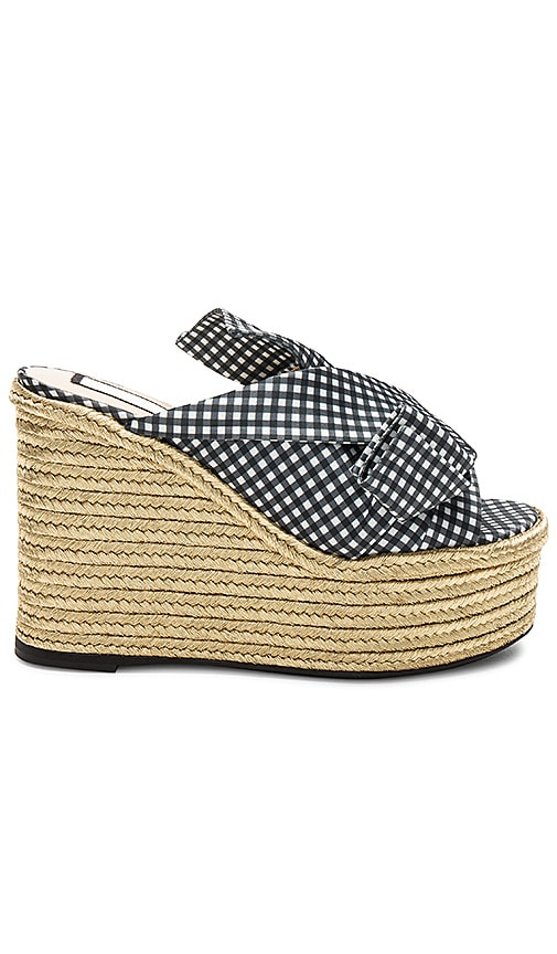 No. 21 Bow Wedge in Black