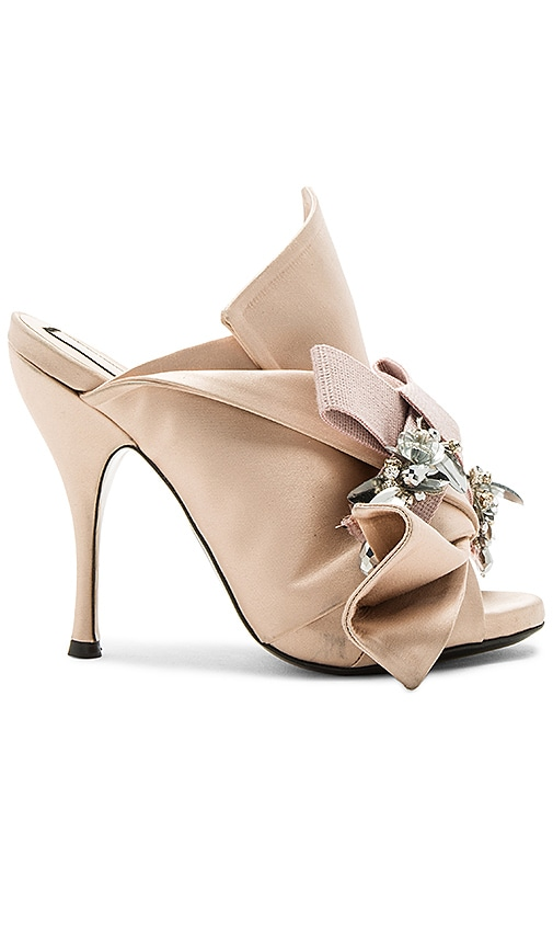 Embellished Bow Mule
