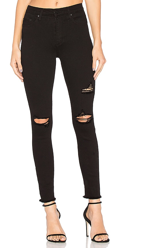 Nobody Denim Cult Ankle Skinny in Black