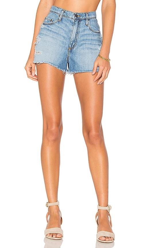 Nobody Denim Skyline Frayed Shorts in Torn Up