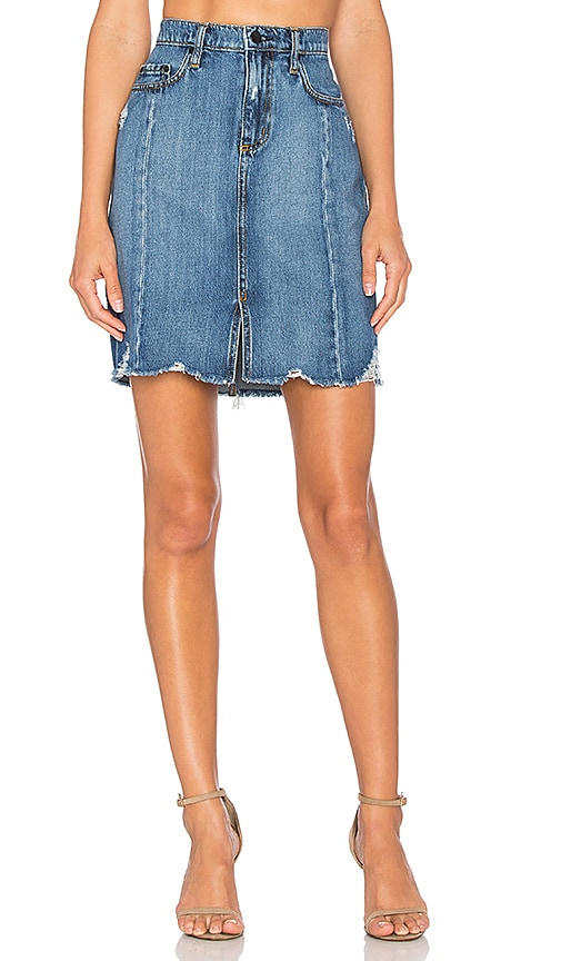 Nobody Denim Tilda Skirt in Roughed Up