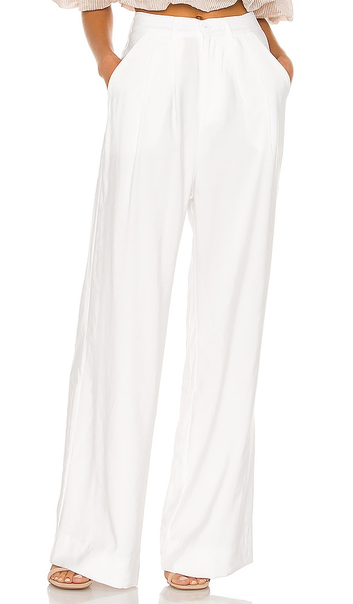 Nonchalant Fabi Wide Leg Pant In White