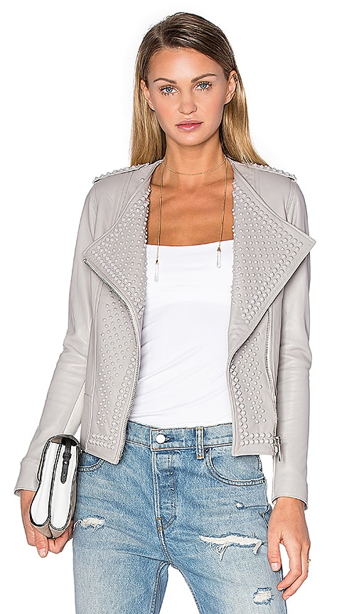 NOUR HAMMOUR Erin Jacket in Grey