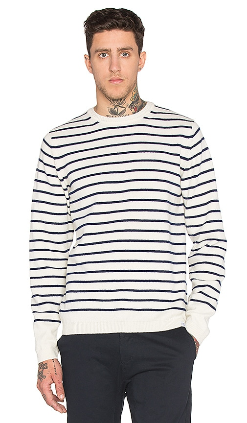 Norse Projects Sigfred Lambswool Sweater in Ecru