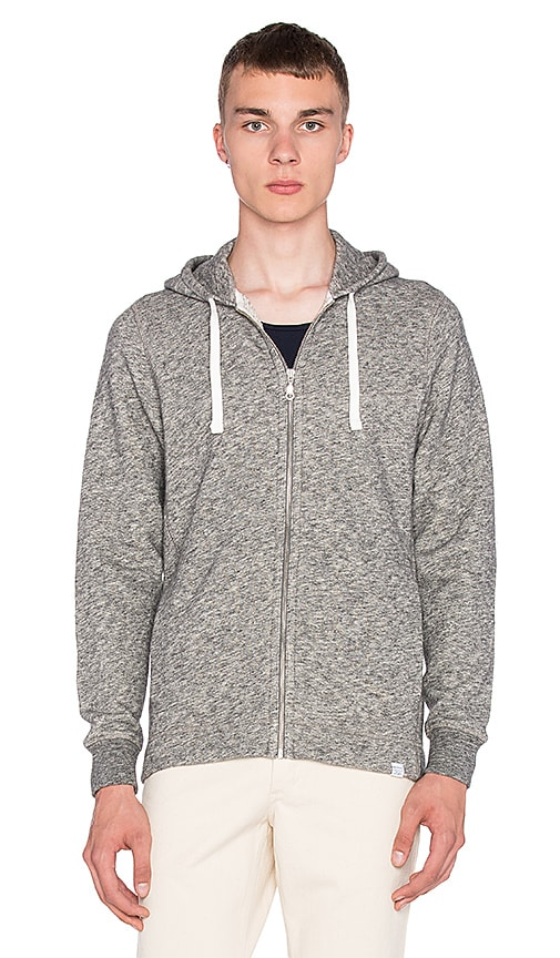 Norse Projects Vagn Zip Hoodie in Light Grey Melange