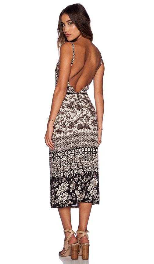 NOVELLA ROYALE Lux Midi Dress in Black Hazely