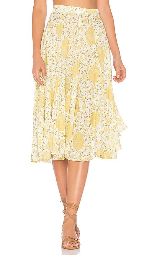 NOVELLA ROYALE Scarlet Skirt in Yellow