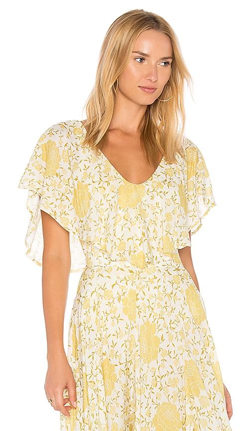 NOVELLA ROYALE Juliet Bodysuit in Yellow