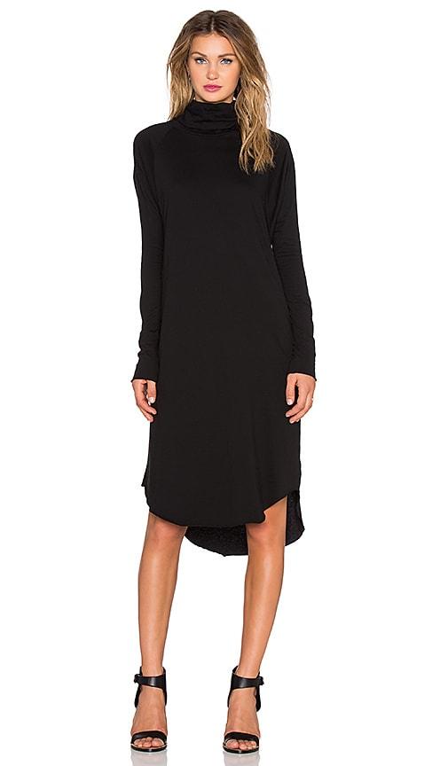 NSF Elena Long Sleeve Dress in Black