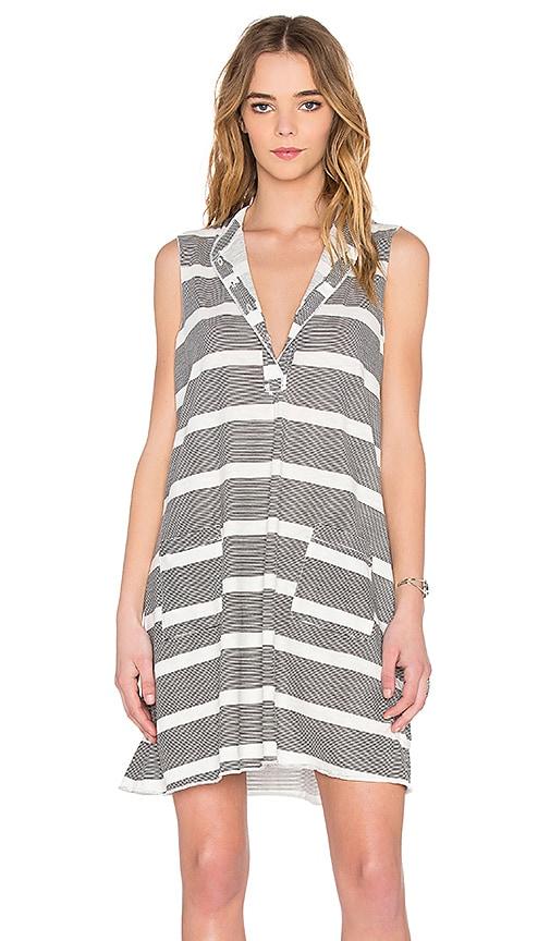 NSF Mobi Dress in White & Black Stripe