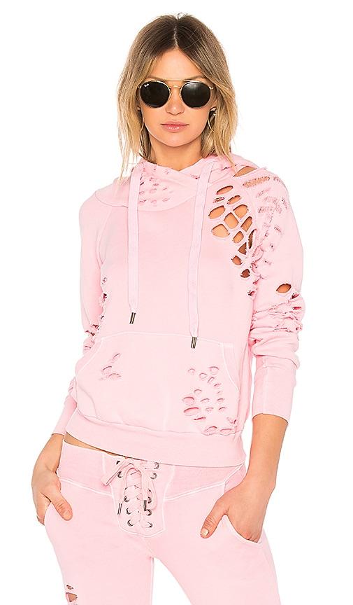 NSF x REVOLVE Lisse Destroyed Hoodie in Pink