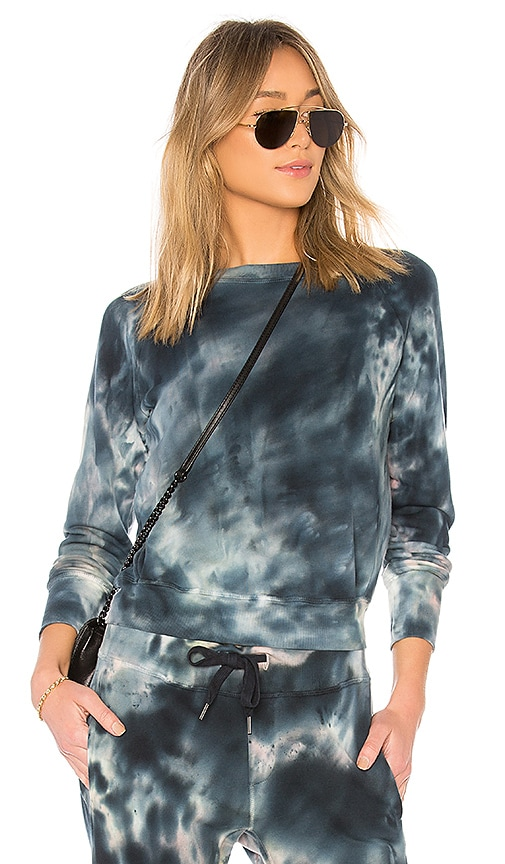 NSF Saguro Tie Dye Pullover in Blue