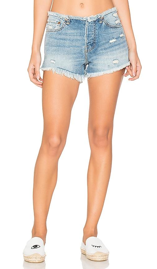 NSF Drai Shorts in Frayed Indigo