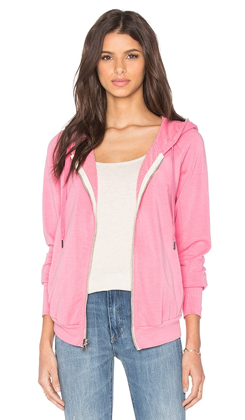 NSF Roxie Zip Up Hoodie in Pigment Pop Pink
