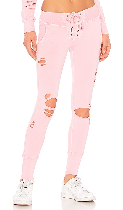 NSF x REVOLVE Maddox Destroyed Sweatpant in Pink