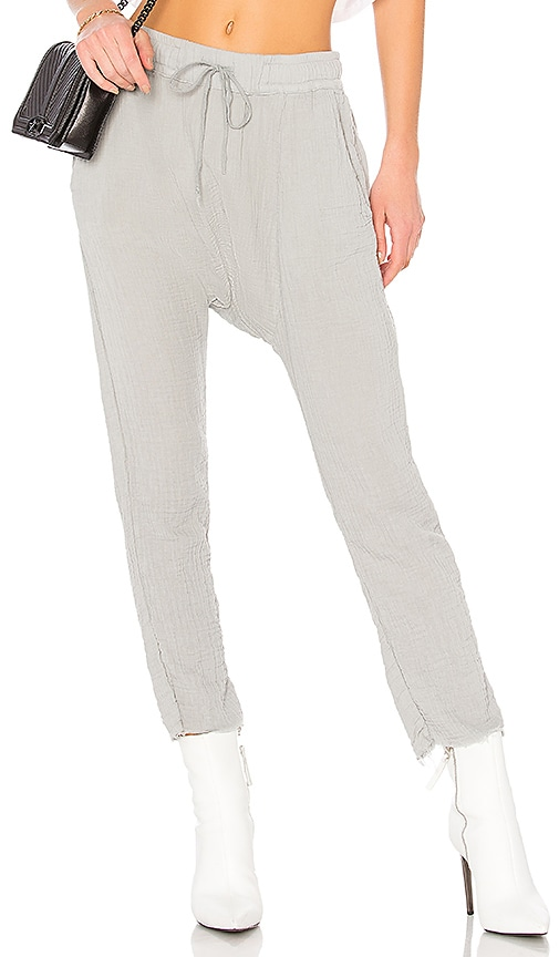 NSF Zion Drop Crotch Pant in Gray