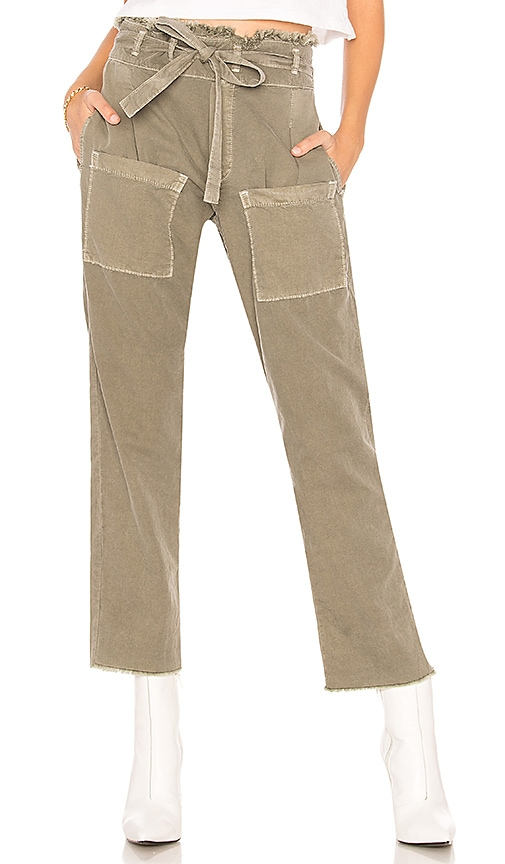 NSF Faro Cropped Pant in Olive