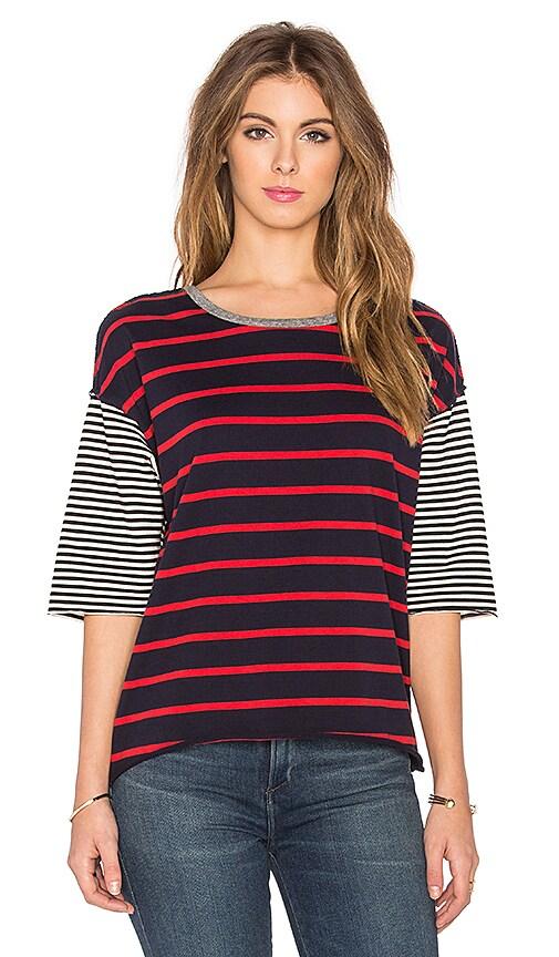 NSF Lora Tee in Mix Stripes